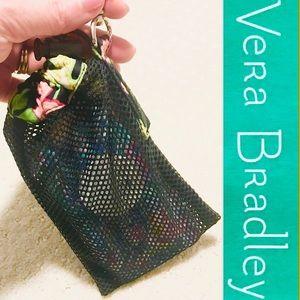 Vera Bradley Drawstring Mesh Phone Bag w/ clip